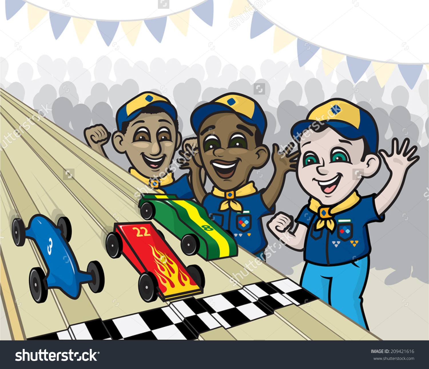 Cub Scouts Pinewood Derby Clip Art