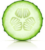 Cucumber; ripe cucumber cut segment