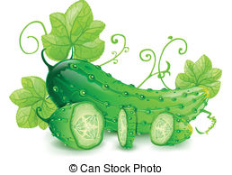 Cucumber Stock Illustrationby - Cucumber Clipart