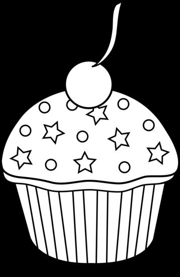 Cupcake black and white black .