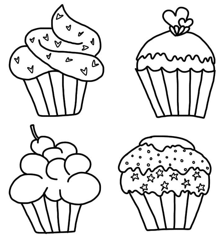 Cupcake black and white cupca - Cupcake Clipart Black And White
