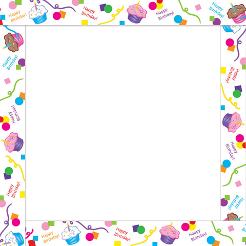 Cupcake Borders And Frames Birthday Clipart Borders Cake
