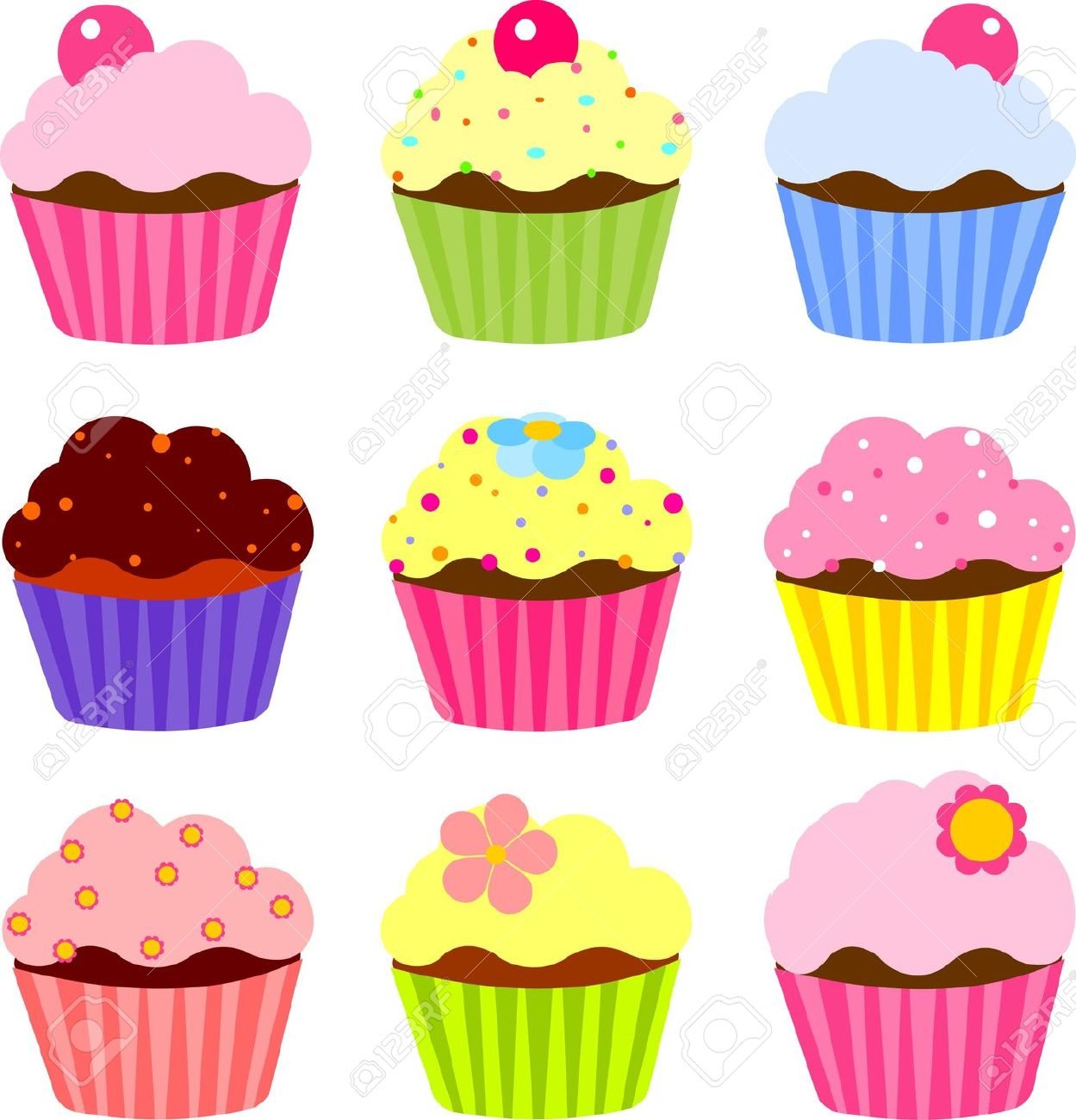 Cupcake Clipart Stock Photos .-Cupcake Clipart Stock Photos .-18