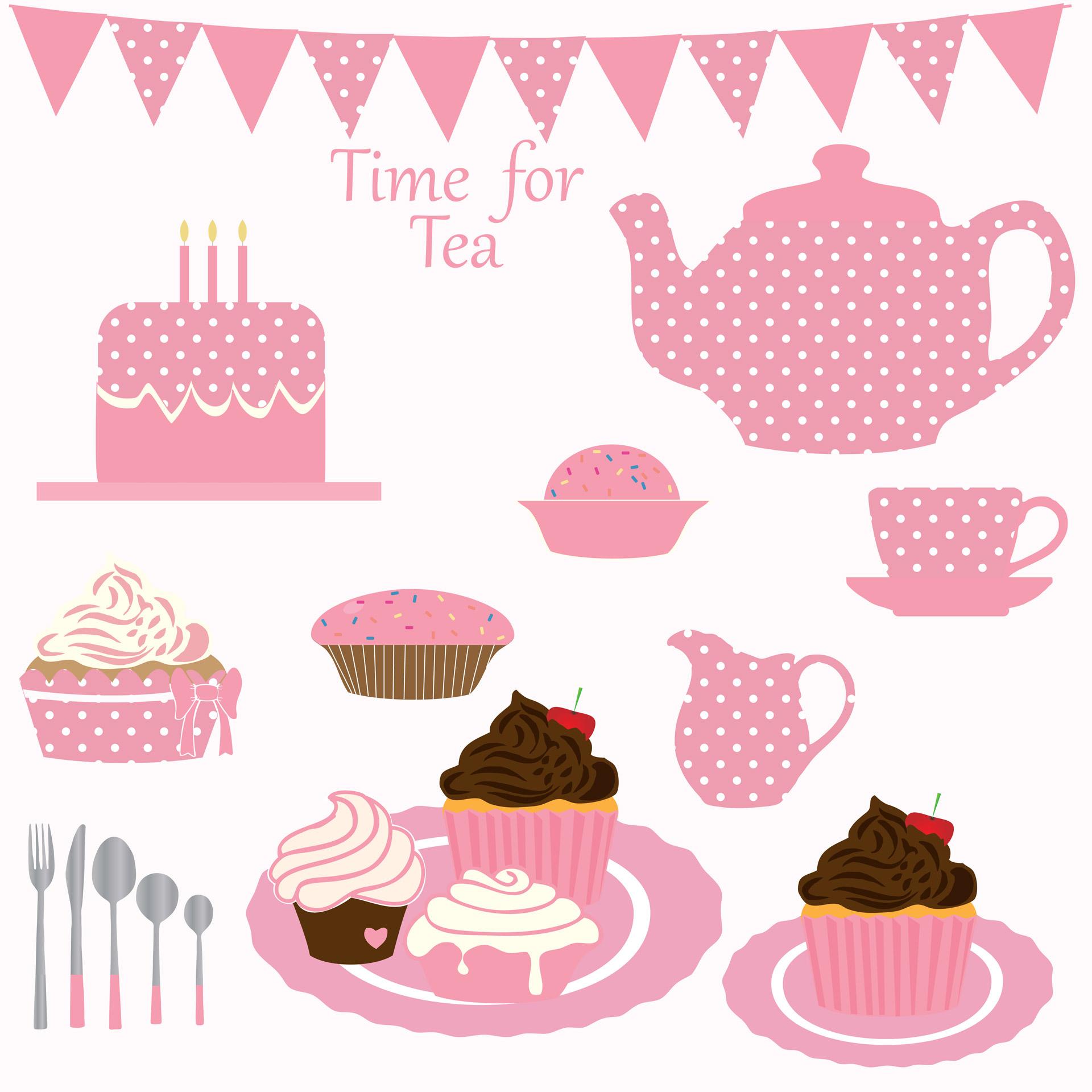 Cupcake Tea Party Clipart-Cupcake Tea Party Clipart-9