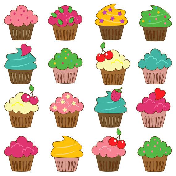 Cupcakes Clip Art Clipart by Pink Pueblo | Papel de scrapbook | Pinterest | Free items