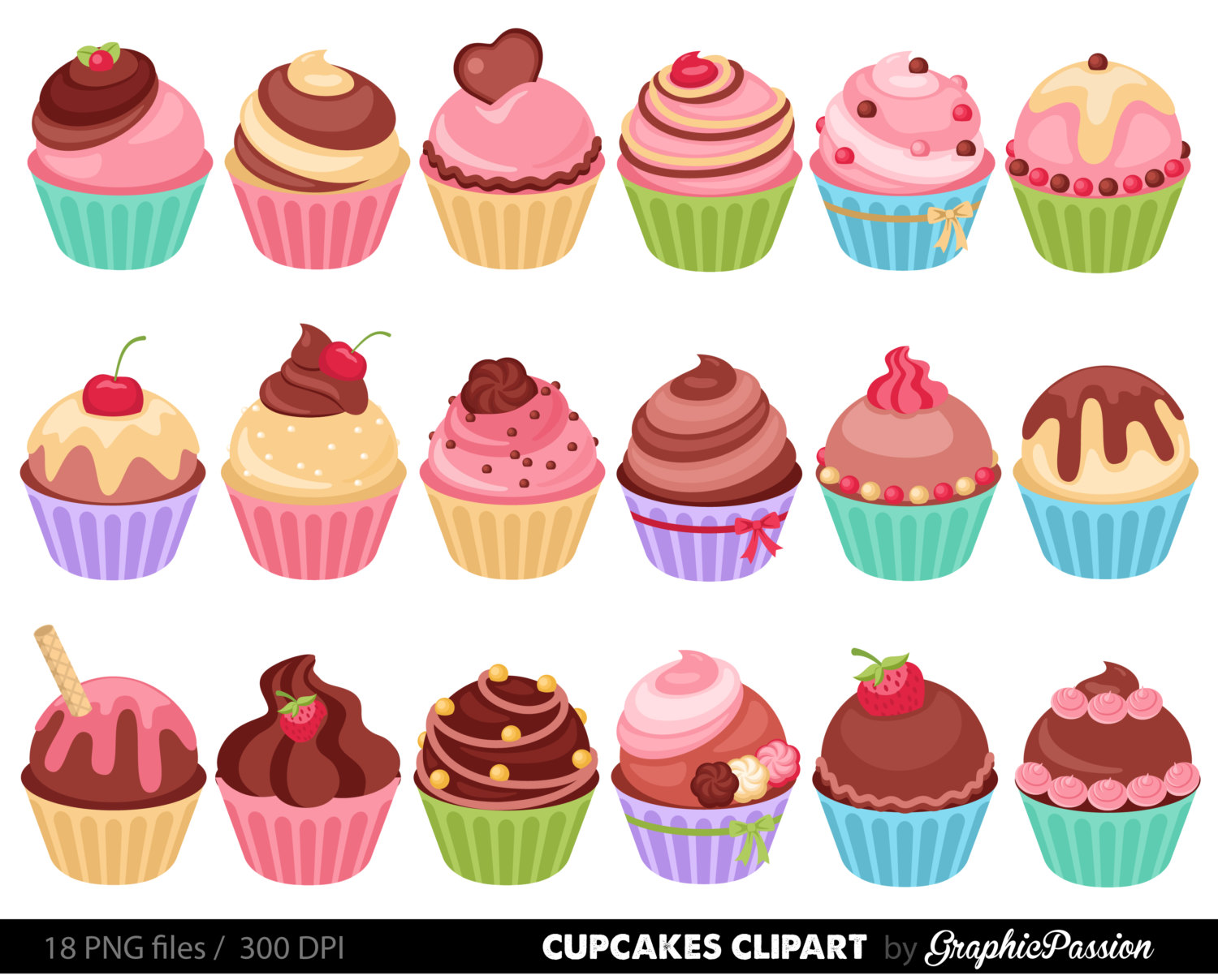 Cupcakes Clipart Digital Cupcake Clip Ar-Cupcakes clipart digital cupcake clip art cupcake digital illustration cupcake Vector birthday cakes bakery sweets frosting chocolate-13