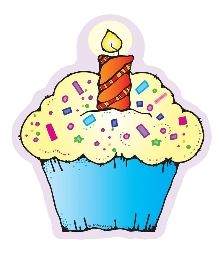 41 Birthday Cupcake Clipart