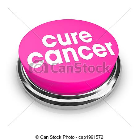 ... Cure Cancer - Pink Button - A pink button with the words.