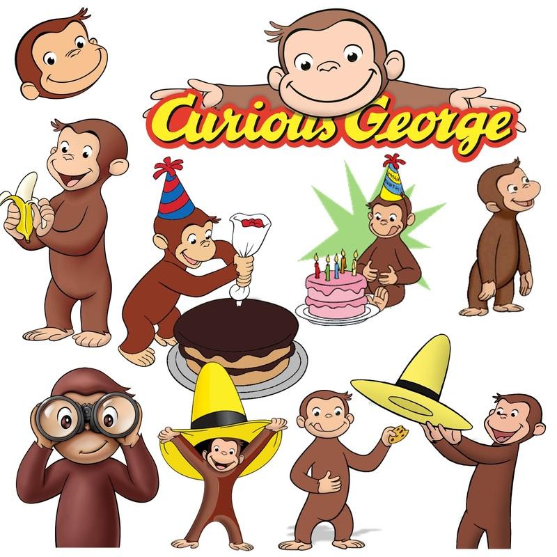 Curious George Png Clip Art Digital Scrapbook Www Myfuninvite Com