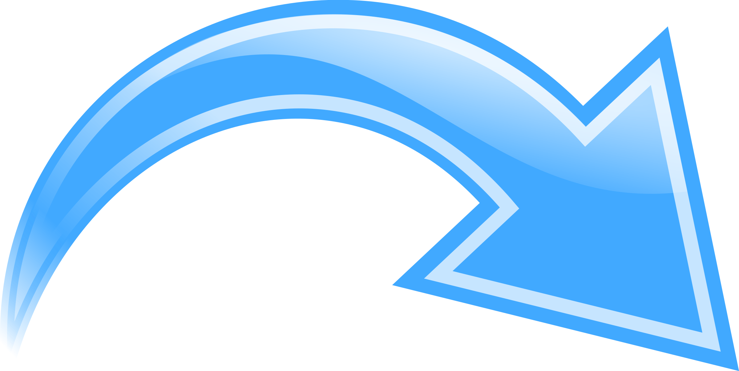 Curved Arrow Blue
