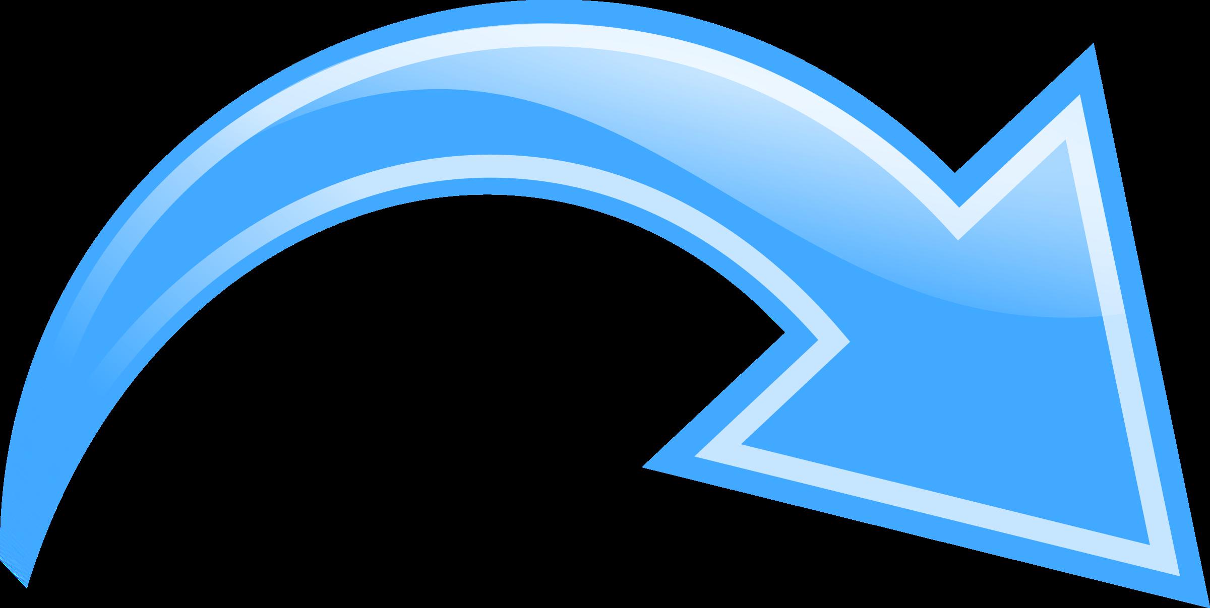 Curved Arrow Blue-Curved Arrow Blue-12