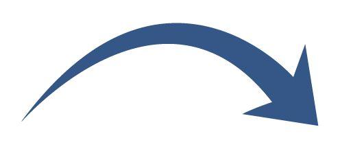 Curved arrow clip art