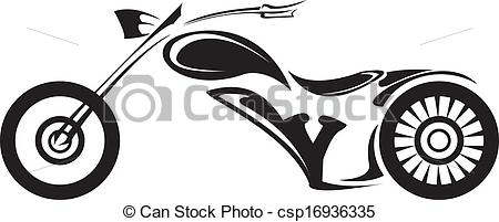 Custom Bagger Motorcycle Clipartby dengland65030/1,583; vector Silhouette of classic motorcycle. moto icon - vector... ...