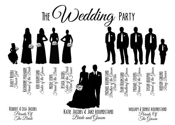 ... wedding; party silhouette