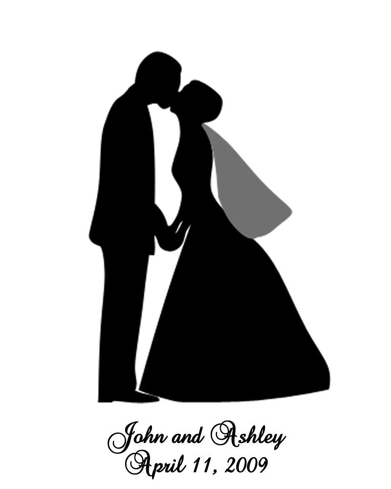 Custom Wedding Silhouette 8x10 Print Jus-Custom Wedding Silhouette 8x10 Print Just Send by PrettyFaces-10