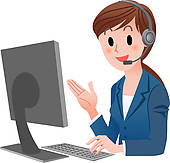Business Person Building Product Brand L-Business person building product brand loyalty; Customer service  representative-3