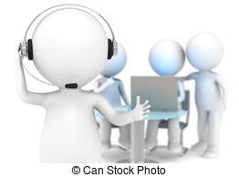 ... Customer Support. - 3D Little Human -... Customer Support. - 3D little human character with a.-12