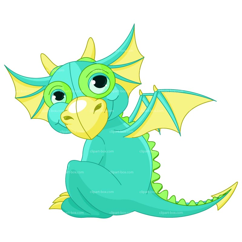 cute baby dragon clipart