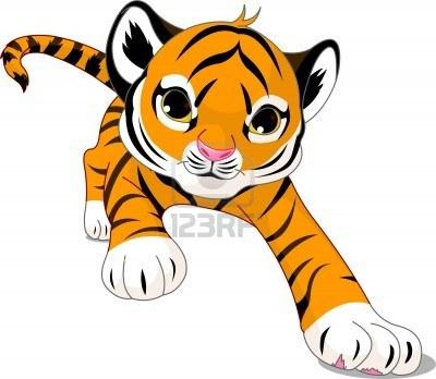 cute baby tiger clipart-cute baby tiger clipart-11
