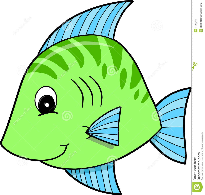 cute blue fish clipart