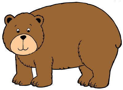 cute brown bear clipart