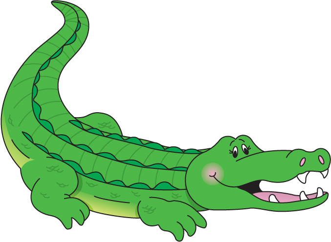 cute crocodile clipart