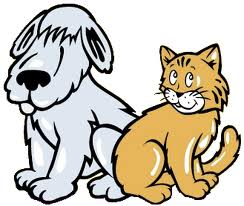 cute dog and cat clipart