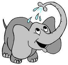 cute elephant clipart