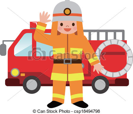 cute firefighter clipart