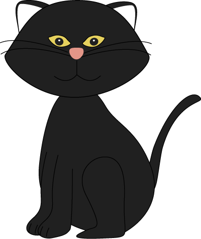 cute halloween cat clipart