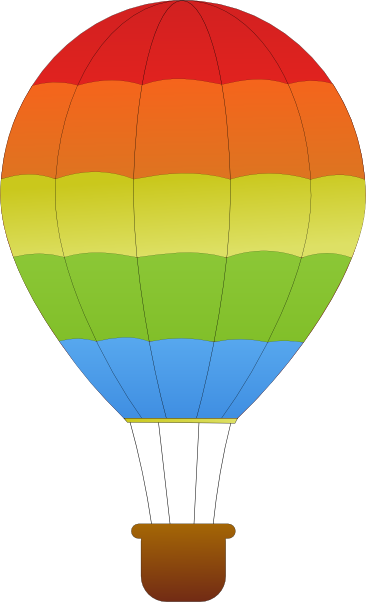 cute hot air balloon clipart - Hot Air Balloon Images Clip Art