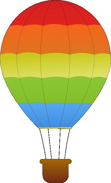 cute hot air balloon clipart