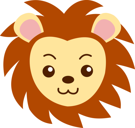 cute lion head clipart