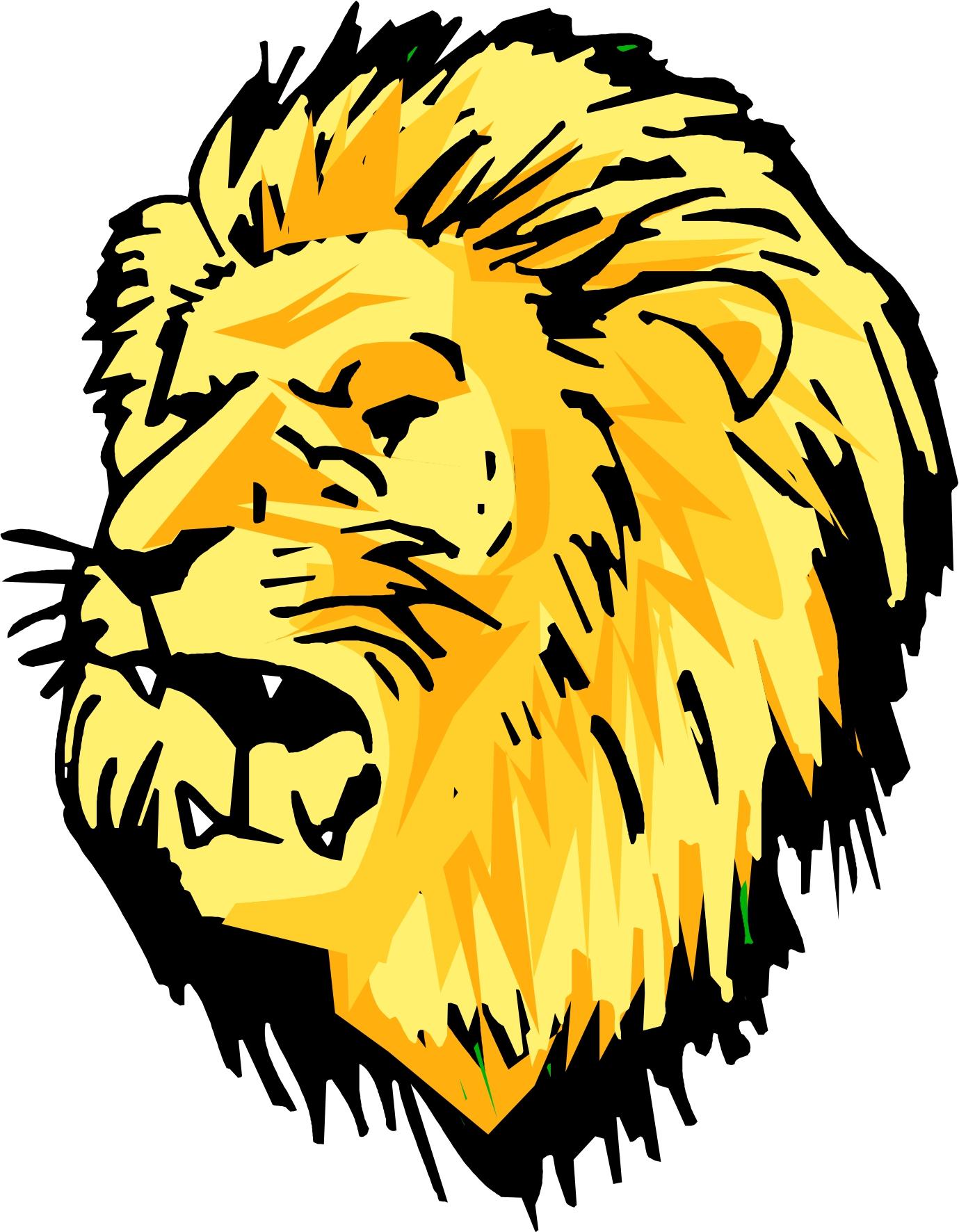 cute lion head clipart