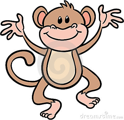 cute monkey clip art black and white-cute monkey clip art black and white-16