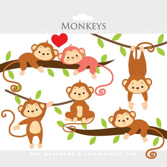 cute monkey clip art