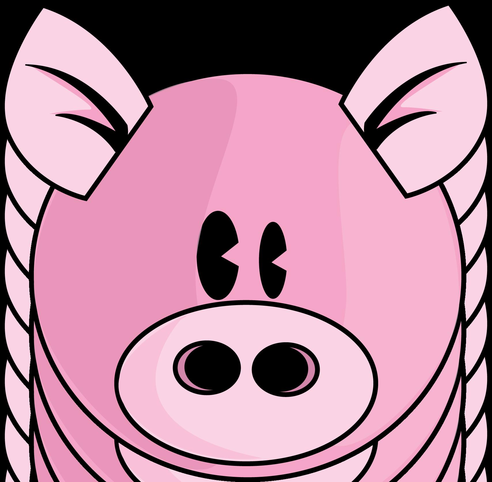 cute pig face clip art