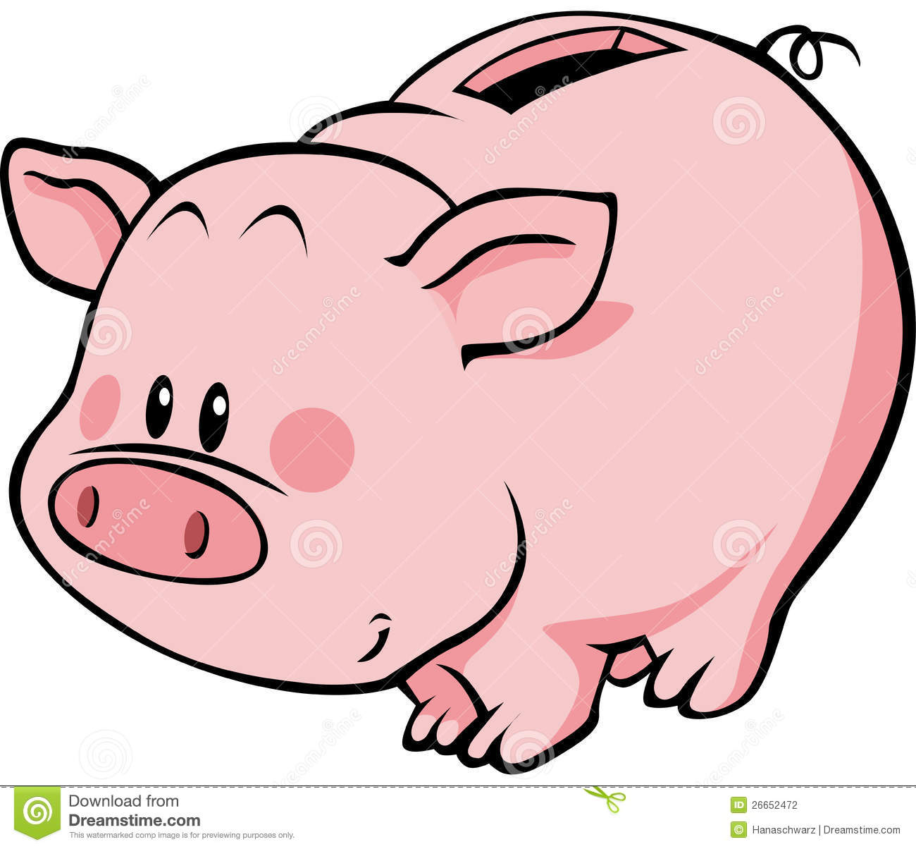 Cute Piggy Bank Clipart-cute piggy bank clipart-3