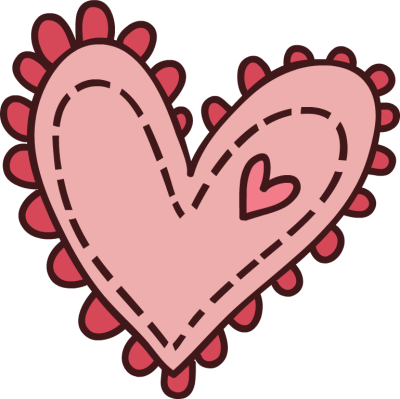cute pink heart clipart