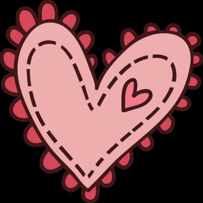 cute pink heart clipart - Cute Heart Clipart
