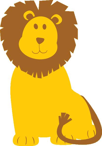 cute roaring lion clipart
