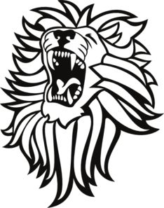 cute roaring lion clipart