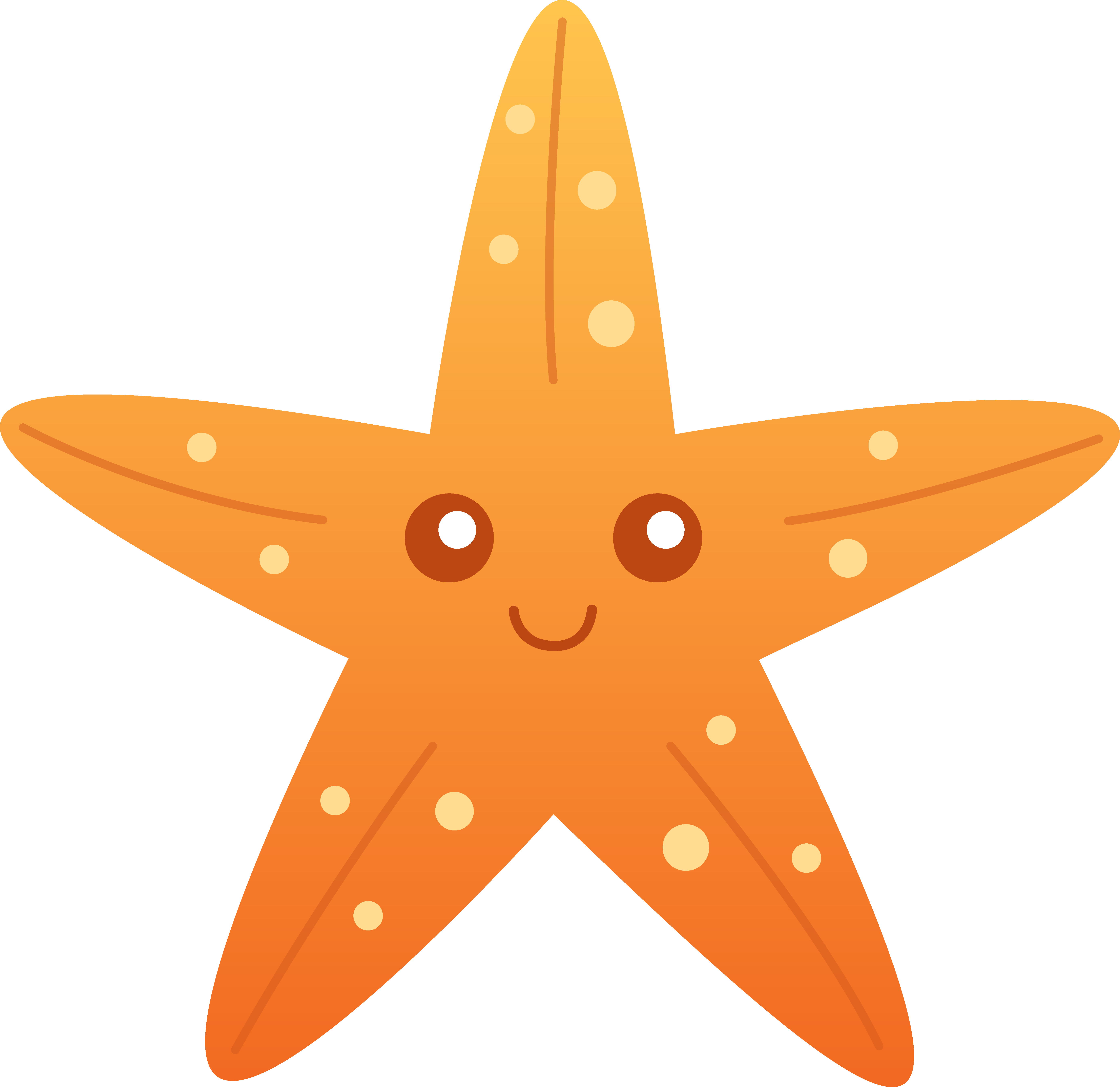 cute starfish clipart