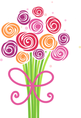 Cute And Fun Bouquet Of Hand Drawn Flowe-Cute And Fun Bouquet Of Hand Drawn Flowers Free Clip Arts Online-4