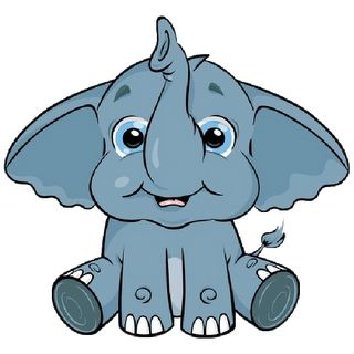 Cute Baby Elephant Clip Art | Baby Elephant Page 3 - Cute Cartoon Elephant Clip Art