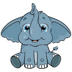 Cute Baby Elephant Clip Art ..