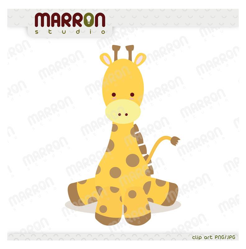 Cute Baby Giraffe Kawaii Style Clipart O-Cute Baby Giraffe Kawaii Style Clipart On Storenvy-11