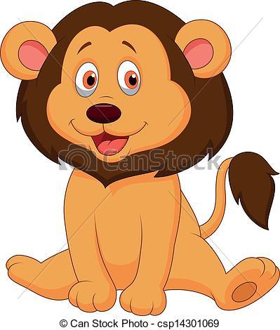 ... Cute Baby Lion Cartoon - Vector Illu-... Cute baby lion cartoon - Vector illustration of Cute baby.-12