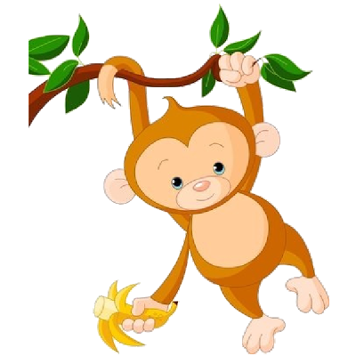 Cute Baby Monkey Clip Art Images