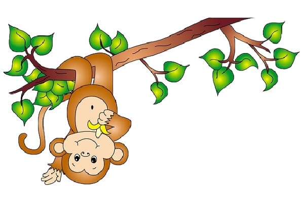 Cute Baby Monkey Clipart .